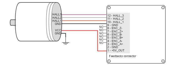 servo motor wiring connection